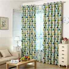 2 X Blockout Curtains Triangle Blackout Jungle Green Boys Kids Curtain Eyelet