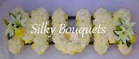 Mum Artificial Silk Funeral Flower Wreath Memorial 3 Letter Floral Tribute False