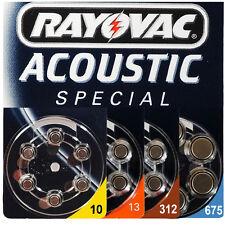 Hörgerätebatterie RAYOVAC VARTA Acoustic Spezial alle Typen 10 - 13 - 312 - 675