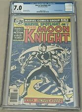 Marvel Spotlight 28 CGC 7.0 White Pages Moon Knight Solo Story