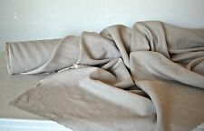 """100% Linen Natural Oatmeal Mid Weight 5 oz Sq/Yd  58"""" Wide Fabric By The Yard"""