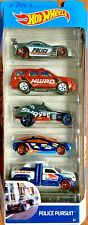 Hot Wheels 2019 Police Pursuit 5 Vehicle Gift Pack #FYL15 1:64 Scale Diecast