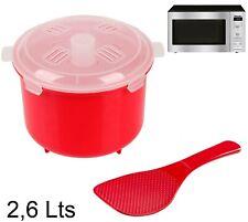 Olla Vapor para microondas Escurridor con Cuchara y Vaso medidor Cocina al Vapor