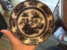 "6"" plate,Challinor,flow/black mulberry,PELEW,transferware plate,mid 1800s"
