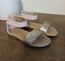 New Old Navy Toddler Girls Pink Glitter Sandals Size 8