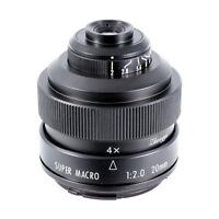 Zhongyi Mitakon 20mm f/2.0 4.5X Super Macro Lens for Micro Four Thirds mount MFT