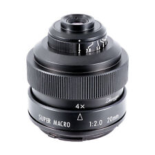 Zhongyi Mitakon 20mm f/2.0 4.5X Super Macro Lens for Micro Four Thirds mount MFT