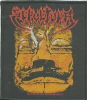 SEPULTURA aztec face 1992 - WOVEN SEW ON PATCH official merch - no longer made