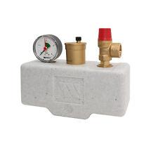 "Boiler Safety Group Valve upto100KW 3bar AAV PRV Gauge 1"" F Biomass Heat Pump"