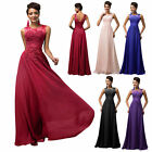 Chiffon Long Formal Bridesmaid Ball Cocktail Prom Dress Party Evening Gown Blue