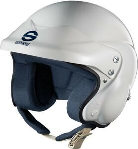 Sparco ADV Jet Open Face Rally Helmet Glossy White XS, S, M 00359ADVH Promotion