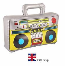 INFLATABLE BOOM BOX Blow Up Speaker Kids Inflate Toy Stereo Stag Hen Party 37cm