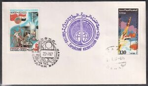 Russia 1987 Space Cover USSR-Syria Flight