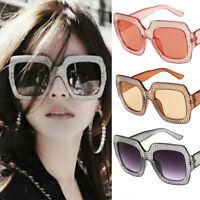 Sunglasses Women Ladies Retro Frame Square Oversize Shades Glasses Fashion