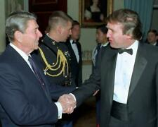 President Ronald Reagan and Donald Trump 8x10 Photo #B118