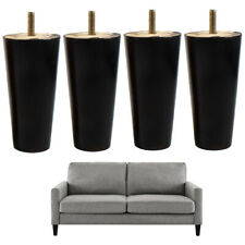 Black Wooden Furniture Legs Replacement  Couch Sofa Dresser 5 inch 4pcs