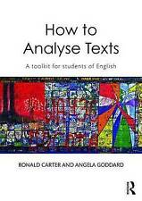 How to Analyse Texts, Very Good Condition Book, Carter, Ronald, ISBN 97804158368
