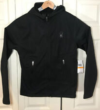 Spyder Jacket Mens Small - Black With Hood - Full Zip Up - HydroWeb