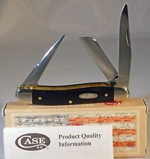 CASE XX Black Synthetic Smooth CV Medium Stockman Pocket Knife /CV Punch