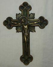 G} MAX LE VERRIER : Crucifix / Croix en BRONZE (signé) Signed Cross