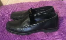 Cole Haan Country Black Leather Slip On Loafers Women's US 7.5 AA