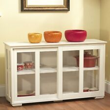 NEW Kitchen Island Wooden Storage Cabinet Cooking Cutting White Doors More Space