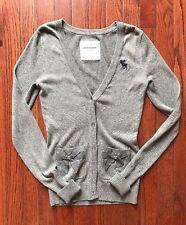 Beautiful Abercrombie & Fitch Kids Gray Cardigan Bow Sweater Sz L