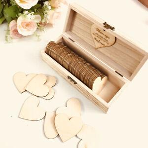 Personalised Wedding Guest Book Rustic Wood Wedding Guestbook Keepsake Box