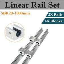 Sbr12 1000mm Linear Rail Slide Guide Shaft With Sbr12uu Block Bearing Aluminium