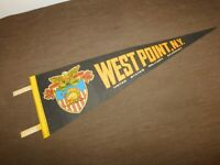 "VINTAGE 25 1/2"" LONG WEST POINT NY UNITED STATES MILITARY ACADEMY  CLOTH PENNANT"