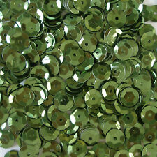 Sequins Olive Green 5mm Round Cup ~1,000 or ~12,500 pieces Loose High Quality