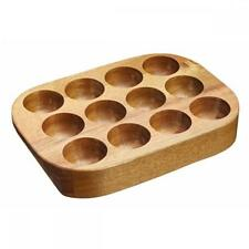 Kitchen Craft Acacia Wood Wooden 12 Cup Egg Storage Holder Tray