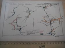 COLNE NELSON KEIGHLEY INGROW HALIFAX SHIPLEY BRADFORD LOW MOOR RAILWAY MAP 1913
