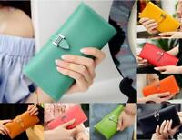 Women Ladies Long Leather Clutch Wallet Card Holder Checkbook Purse Bag Handbag