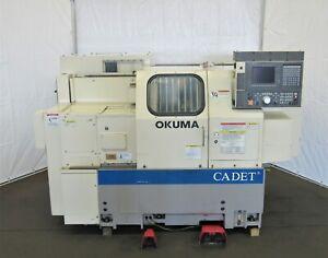 Okuma Cadet LNC-8, Big Bore, 2-Axis CNC Lathe, ID# L-073