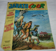 JABATO COLOR, SUPERAVENTURAS SEGUNDA EPOCA AÑO VIII BRUGUERA 1975, COMIC ANTIGUO
