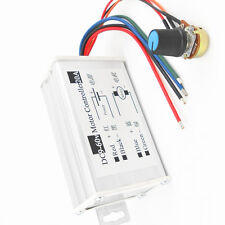 Max 20A 9-60V PWM DC Motor Stepless Variable Speed Controller Switch NEW