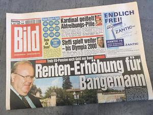Bildzeitung vom 06.07.1999 * 18. 19. 20. Geburtstag Geschenk * Bangemann