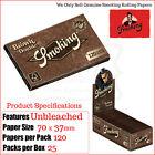 Smoking Sin Blanquear Doble Paquete NORMAL papeles de liar - 3/6/12 & 24
