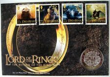 LORD OF THE RINGS PNC COIN STAMPS ISLE OF MAN 2004 CUPRO NICKEL FRODO GANDALF