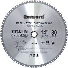 Concord Blades MCB1400T080HP 14Inch 80 Teeth TCT Ferrous Metal Cutting Blade