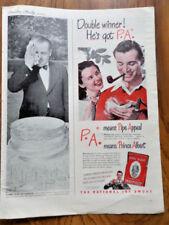 1947 Prince Albert Pipe Cigarette Tobacco Ad Double Winner He's got P.A. Golfing