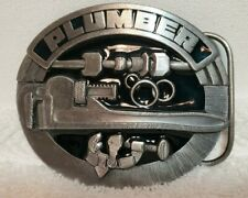 PLUMBER Siskiyou 1992 Belt Buckle Pewter and Enamel