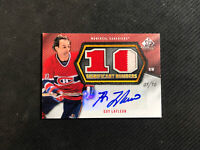 2010-11 SP GAME USED GUY LAFLEUR SIGNIFICANT NUMBERS JERSEY AUTO #ed 1/10