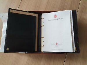 A5 Luxus Leder TeBe Organizer Ringbuch Aktenmappe Treuleben & Bischof