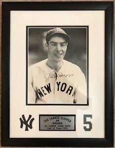 Joe DiMaggio Autographed Photo, Double Matted, Yankee Clipper plaque, PSA LOA