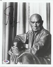 YUL BRYNNER SIGNED 'THE KING AND I' 8X10 PHOTO AUTOGRAPH PSA/DNA COA