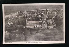 Gloucestershire Glos TEWKESBURY Abbey Aerial view Aerofilms c1930s? RP PPC