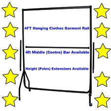 5⭐4ft HEAVY DUTY GARMENT RAIL CLOTHES HOME STORAGE HANGING RACK MARKET DISPLAY