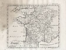 1797 France Genuine Copperplate Engraving Antique Map